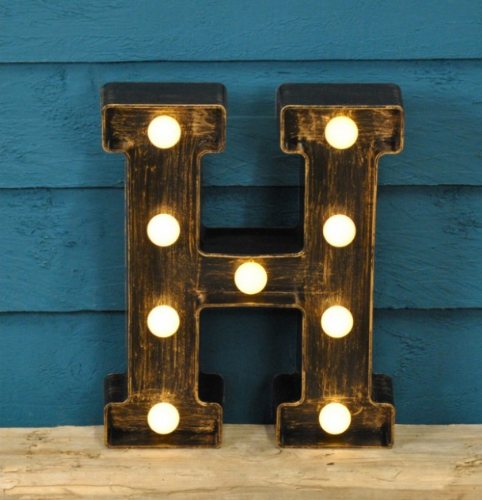 Letter H- Battery Operated Lumiere